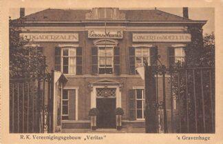 Ansichtkaart 's-Gravenhage Westeinde R.K. Vereenigingsgebouw Veritas HC23303