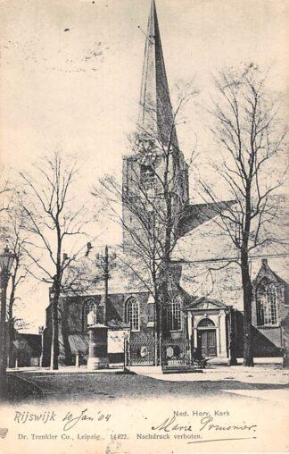 Ansichtkaart Rijswijk (ZH) Ned. Hervormde Kerk 1904 HC23333