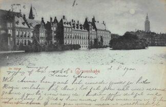 Ansichtkaart 's-Gravenhage De Vijver met parlementsgebouwen 1900 HC23336