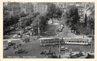 Ansichtkaart 's-Gravenhage Buitenhof HTM Tram Auto 1957 HC23365
