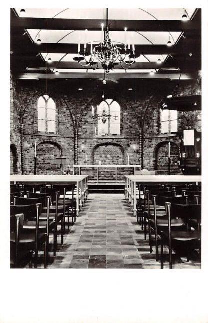 Ansichtkaart Oldeberkoop Kerk Gezicht op het Koor 1965 Ooststellingwerf Friesland HC23388