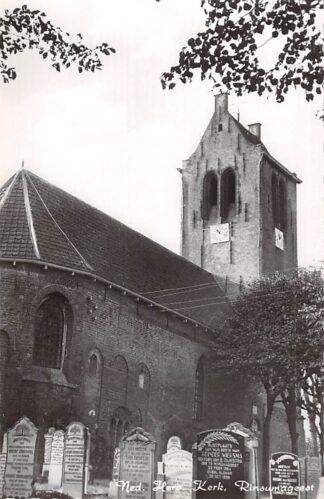 Ansichtkaart Rinsumageest Ned. Hervormde Kerk met begraafplaats 1961 Friesland Dantumadeel HC23389