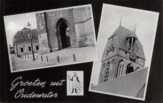 Ansichtkaart Oudewater Groeten uit 1965 Ned. Hervormde Kerk HC23395