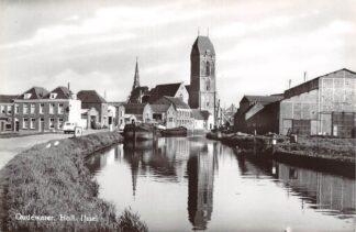 Ansichtkaart Oudewater Hollandsche IJssel Kerk Binnenvaart schepen 1966 HC23399