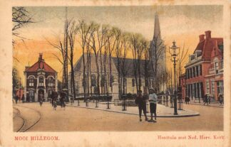 Ansichtkaart Mooi Hillegom Houttuin met Ned. Hervormde Kerk HC23438