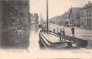 Ansichtkaart Hillegom Haven met binnenvaart schepen Scheepvaart Nauta 1482 HC23443