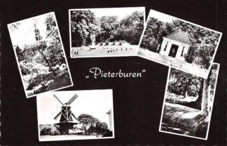 Ansichtkaart Pieterburen Kerk Molen Zonnewijzer 1964 Het Hogeland  HC23488
