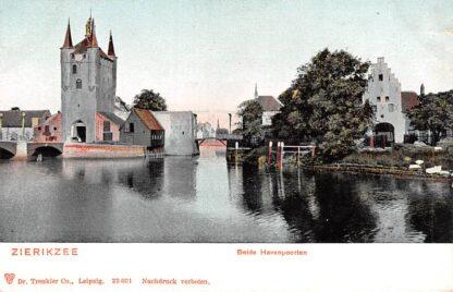 Ansichtkaart Zierikzee Beide Havenpoorten HC23493