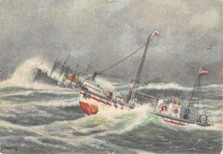 Ansichtkaart Den Helder Motor reddingboot Dorus Rijkers in oorlogstijd Scheepvaart Schepen HC23541