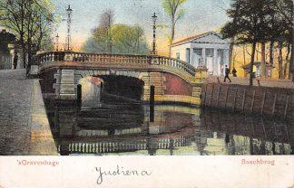 Ansichtkaart 's-Gravenhage Boschbrug 1904 HC23550