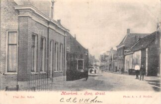 Ansichtkaart Meerkerk Gorc. Straat 1904 Alblasserwaard HC23556