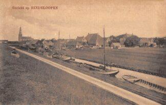 Ansichtkaart Hindeloopen Gezicht op Hindeloopen Binnenvaart schepen Scheepvaart HC23616