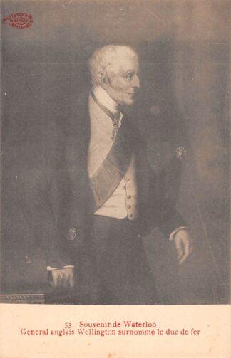 Ansichtkaart België Engeland Souvenir de Waterloo General Anglais Wellington surnomme Le Duc de Fer England Europa HC23668