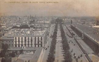 Ansichtkaart Spanje Barcelona Fotokaart 1908 Paseo de Colon Vista Panoramioa España Spain Europa HC23700