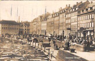 Ansichtkaart Denemarken Kopenhagen Kobenhavn Gammel Strand Fotokaart Vissers schepen 1926 Danemark Danmark Europa HC23707