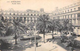 Ansichtkaart Spanje Barcelona Plaza Real España Spain Europa HC23717