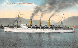 Ansichtkaart Canada C.P.R.R.M.S. Empress of Russia Schepen Scheepvaart Noord-Amerika HC23724