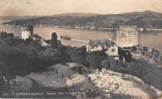 Ansichtkaart Turkije Constantinople Istanbul Bosphore Fotokaart Tours de Roumeli-Hissar Turkye Euopa HC23727