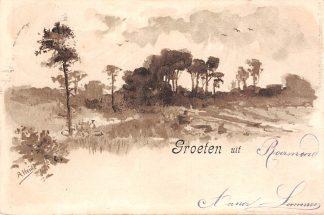Ansichtkaart Roermond Groeten uit 1900 Illustrator A. Heide HC23750