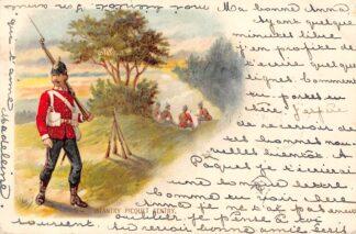 Ansichtkaart Engeland Militair Infantry Piquet Sentry 1901 Fantasie England Europa  HC23754