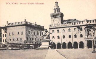 Ansichtkaart Italië Bologna Piazza Vittorio Emanuele Tram 1921 Italia Europa HC23766