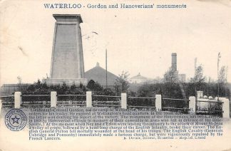Ansichtkaart België Waterloo Gordon and Hanoverians' Monuments 1920 Engeland England Europa HC23768