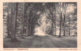Ansichtkaart Heemstede Groenendaal Adriennelaan met beeld Haarlem HC23785
