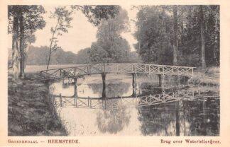 Ansichtkaart Heemstede Groenendaal Brug over Waterlelievijver Haarlem HC23787
