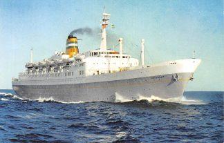 Ansichtkaart Rotterdam Holland America Line s.s. Statendam 1965 Schepen Scheepvaart HC23813