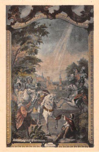 Ansichtkaart Houthem Kerk Sint Gerlach Interieur Bekeering v.d. H. Gerlacus Limburg HC23829