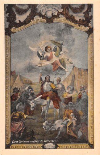 Ansichtkaart Houthem Kerk Sint Gerlach Interieur De H. Gerlacus verlaat de Wereld Limburg HC23830