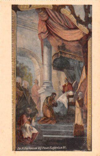 Ansichtkaart Houthem Kerk Sint Gerlach Interieur De H. Gerlacus bij Paus Eugenius III Limburg HC23831