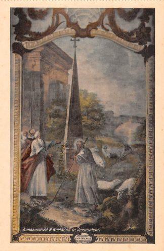 Ansichtkaart Houthem Kerk Sint Gerlach Aankomst v.d. H. Gerlacus te Jerusalem Limburg HC23832