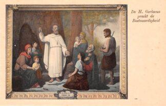 Ansichtkaart Houthem Kerk Sint Gerlach Interieur De H. Gerlacus preekt de Boetvaardigheid Limburg HC23836