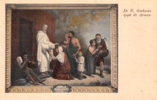 Ansichtkaart Houthem Kerk Sint Gerlach Interieur De H. Gerlacus spijst de armen LimburgHC23837
