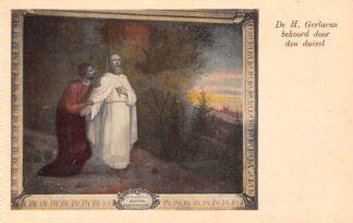 Ansichtkaart Houthem Kerk Sint Gerlach Interieur De H. Gerlacus bekoord door den duivel Limburg HC23839