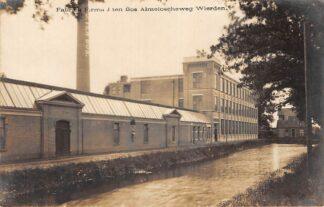 Ansichtkaart Wierden Textiel Fabriek Firma J. ten Bos Almeloscheweg Fotokaart Almelo Twente HC23849