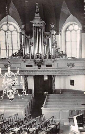 Ansichtkaart Woubrugge Interieur Hervormde Kerk met orgel 1962 HC23861