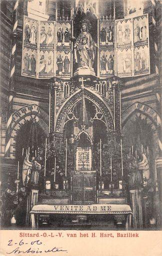 Ansichtkaart Sittard O-L-V. van het H. Hart Baziliek Kerk Interieur 1906 HC23862
