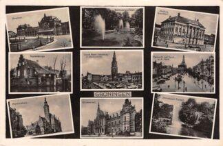 Ansichtkaart Groningen 9-luik Station Poortershuisje Markten HC23920