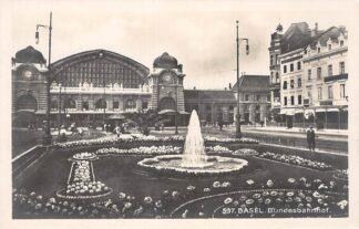 Ansichtkaart Zwitserland Bundesbahnhof Station Spoorwegen Schweiz Suisse Switzerland Europa HC23942
