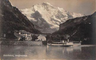 Ansichtkaart Zwitserland Interlaken Schiffstation Scheepvaart Schepen Schweiz Suisse Switzerland Europa HC23947