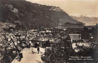 Ansichtkaart Zwitserland Interlaken Heimwehfluh Blick auf Harder und Rothorn Schweiz Suisse Switzerland Europa HC23949