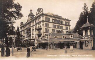Ansichtkaart Zwitserland Interlaken Hoheweg Hotel Schweizerhof Schweiz Suisse Switzerland Europa HC23950