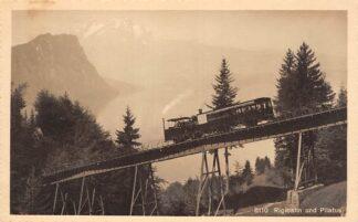 Ansichtkaart Zwitserland Rigibahn und Pilatus Trein Spoorwegen Schweiz Suisse Switzerland Europa HC23951