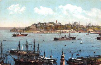 Ansichtkaart Turkije Constantinople Istanbul La Pointe du Serai Scheepvaart Schepen Turkiye Turkey Europa HC23959