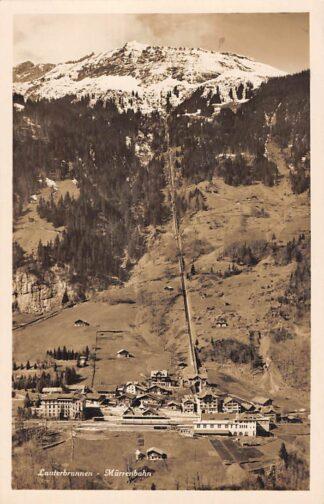 Ansichtkaart Zwitserland Lauterbrunnen Murrenbahn Bahnhof Station Spoorwegen Schweiz Suisse Switzerland Europa HC23967