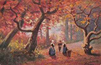 Ansichtkaart Fantasie Illustrator Gerstenhauer Reclame Heeren- en Kinderkleeding A.J.L. v.d. Veer Lange Tiendeweg 3, Gouda HC23972