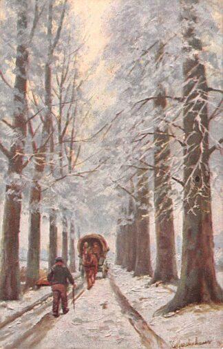 Ansichtkaart Fantasie Illustrator Gerstenhauer Reclame A.L.J. v.d. Veer Lange Tiendeweg 3 Gouda Heeren- en Kinderkleding HC23991