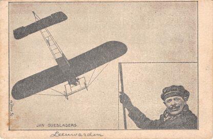 Ansichtkaart Leeuwarden Vliegshow Jan Olieslagers uit België 1910 Vliegtuigen Luchtvaart HC24010